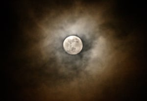 Berkshire, EnglandAn aura surrounds the moon prior to the 'Super Worm Equinox Moon', 2019's third, last and best super moon which peaks on March 20th.
