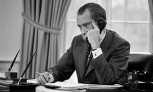 Dirty tricks and sweaty jowls … Richard Nixon.
