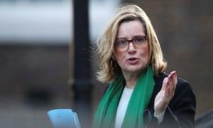Britain's Home Secretary Amber Rudd