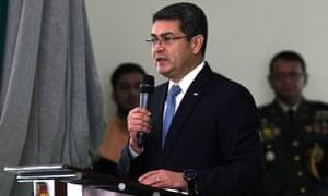 Juan Orlando Hernández in Tegucigalpa, Honduras Thursday.