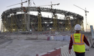 The Lusail stadium, one of several new venues under construction for the 2022 World Cup in Qatar.