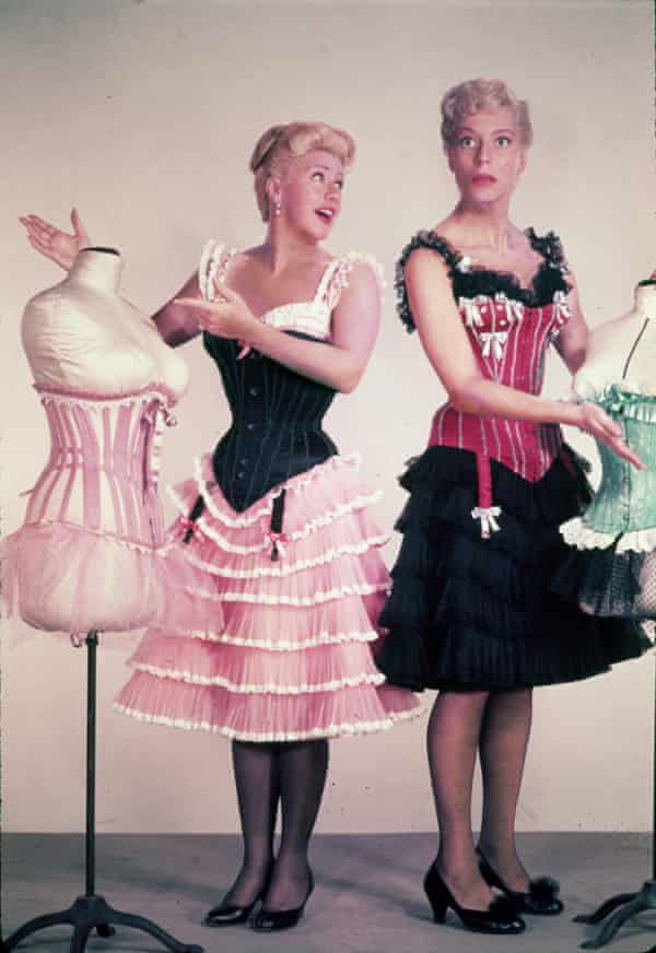 Carol Channing, right, with Ginger Rogers in First Traveling Saleslady, 1956.