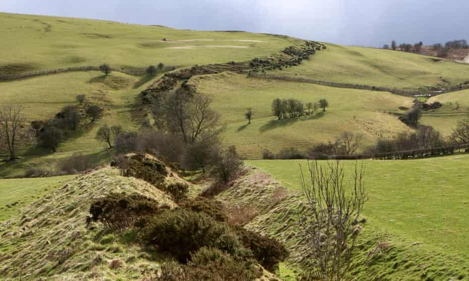 Offa's Dyke on Llanfair Hill, north of Knighton, Powys, Wales