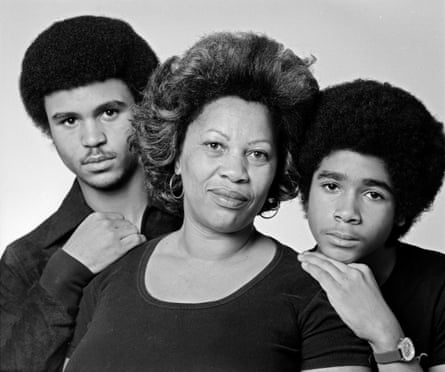 Morrison with her sons, Slade and Ford, at her home in December 1978.