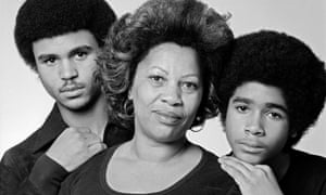 Toni Morrison with her sons Slade and Ford in 1978