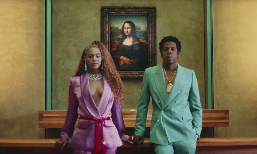 Beyoncé and Jay Z in the video for Apeshit