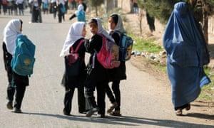 Afghan schoolgirls in Herat