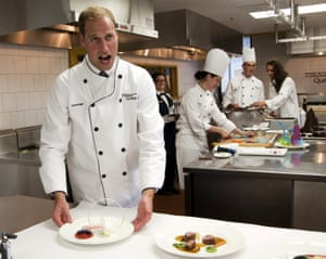 Royals in Canada: Prince William takes part in a cooking workshop in Montreal