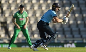 Sam Billings of England adds to his total.