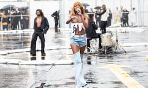 Singing in the rain: FAKA performing for Telfar during New York fashion week