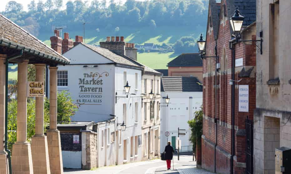 Union Street, Stroud. The town has history of radicalism.