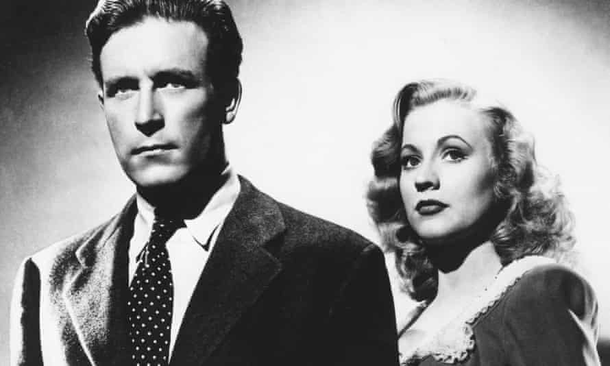 Anne Jeffreys with Lawrence Tierney in Dillinger, 1945.