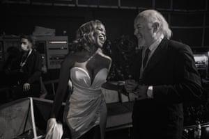 Bill Bailey and Oti Mabuse share a joke