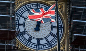 The clock face of Big Ben in Central London