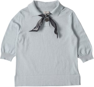 Big button cashmere cotton polo top, £345, by Margaret Howell.