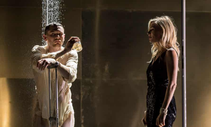 Jack O'Connell and Sienna Miller in Cat on a Hot Tin Roof, directed by Benedict Andrews, at the Apollo theatre, London