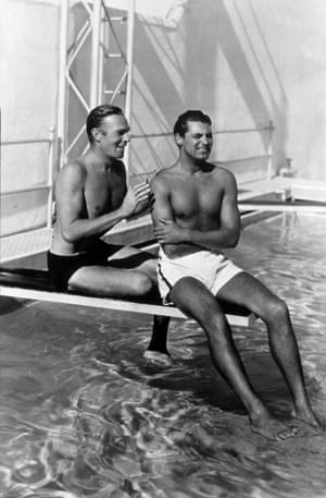 Cary Grant (right) with his 'room mate' Randolph Scott.