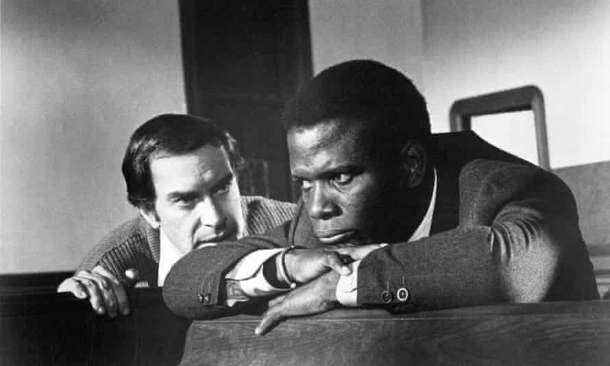 Martin Landau. left, and Sidney Poitier in They Call Me Mister Tibbs!, 1970.
