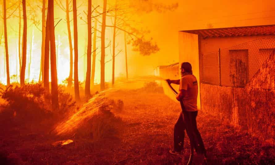Six thousand firefighters helped residents tackle wildfires that raged across Portugal in 2017, killing dozens.
