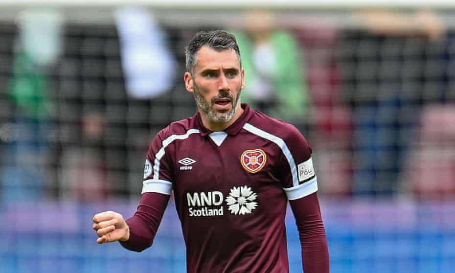 Michael Smith, scorer of Hearts' first goal in their Scottish Premiership victory at Livingston.