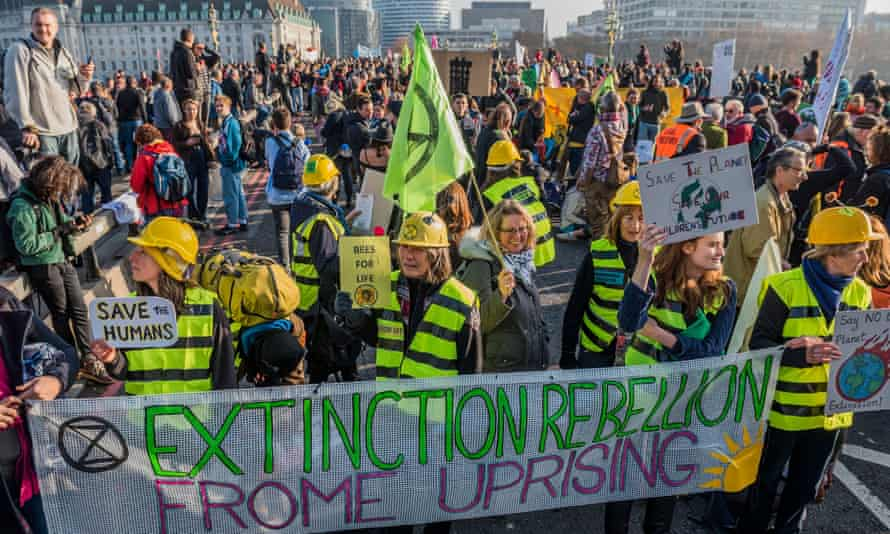 A climate protest in London on 17 November 2018
