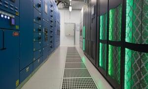 Servers inside Digital Realty's Dublin data centre