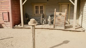 Detail of a Western movie set built by Sergio Leone for A Fistful of Dollars