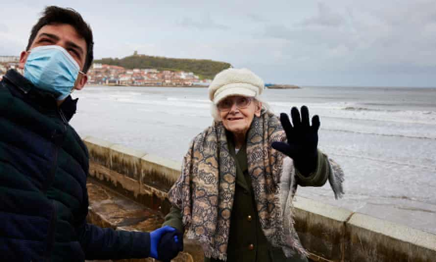 Phyllis Padgham enjoying a trip to the Scarborough seafront with her grandson Aaron