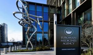 The European Medicines Agency in Amsterdam.