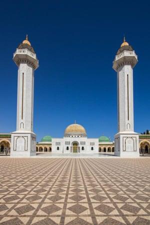 The symmetrical lines of the Habib Bourguiba Mausoleum in Monastir, Tunisia