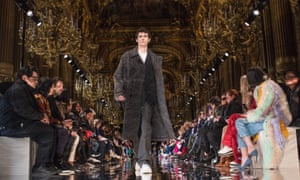 Model on the catwalk at the Stella McCartney show