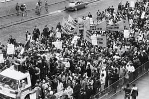 The National Black People's Day of Action near Hyde Park on 2 March 1981.