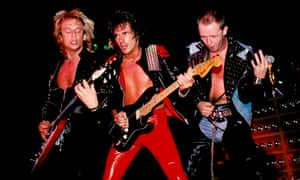 Members of Judas Priest in concert in 1981: from left, KK Downing, Glenn Tipton and Rob Halford.