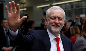 Jeremy Corbyn leaves Labour party headquarters on Friday morning.