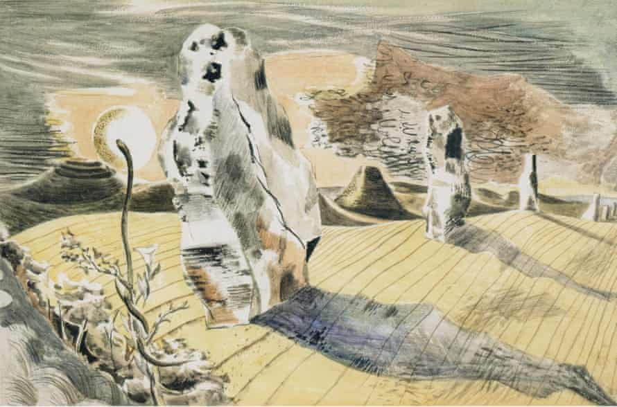 Landscape of the Megaliths by Paul Nash, 1937.