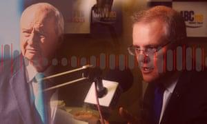 2GB and Sky News host Alan Jones and the prime minister, Scott Morrison.