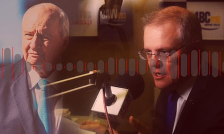 2GB and Sky News host Alan Jones and the prime minister, Scott Morrison.