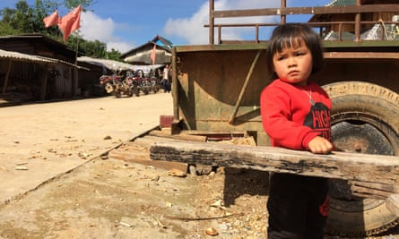 A child in Padangshang, an isolated hilltop hamlet in south-west China.