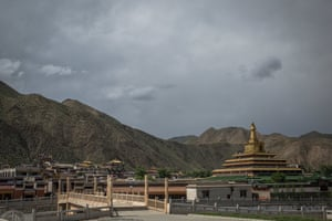 A general view of the Labrang monastery in Xiahe, an ethnically Tibetan town in Gansu province, China, which is home to about 1,500 monks.