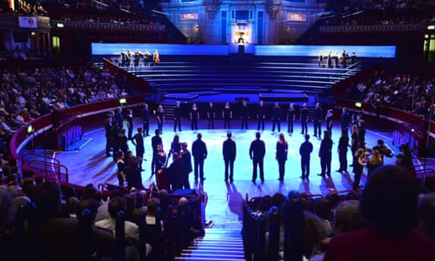 The Aurora orchestra and Chantage perform Benedict Mason's Meld at the Proms, August 2014.