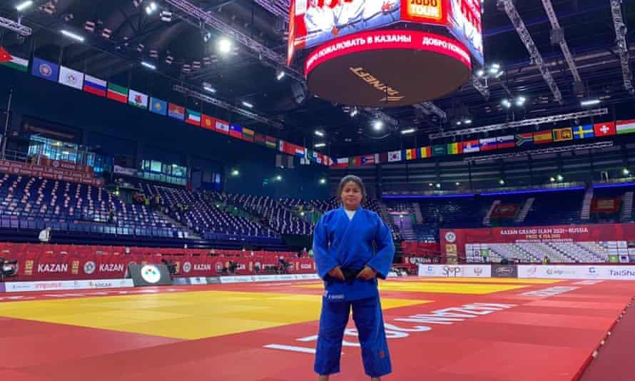 Kinaua Biribo at the Kazan Grand Slam in Russia
