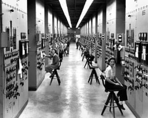 Calutron operators in the Y-12 plant at Oak Ridge. The workers helped refine uranium into fissile material vital for a nuclear bomb, most of whom had no idea what they were working on.