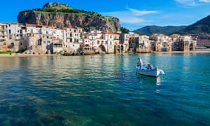 Cefalu, in Sicily. One of the bodies washed ashore near Cefalu.
