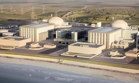 Artist's impression of plans for the new Hinkley Point C nuclear power station