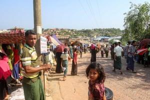 Rohingya refugees in Kutupalong refugee camp in Ukhia.