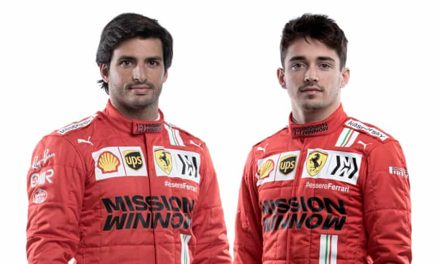 Carlos Sainz (left) and Charles Leclerc will be hoping to improve on Ferrari's sixth-place finish last season.