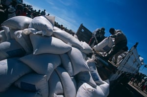 Food aid distributed in parts of Angola, by international agencies.