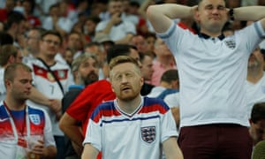 England fans feel dejected after their team lost their semi-final against Croatia.