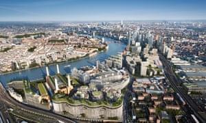 The vast Nine Elms development straddling Battersea and Vauxhall in south London.