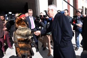 Clinton Pryor meets prime minister Malcolm Turnbull